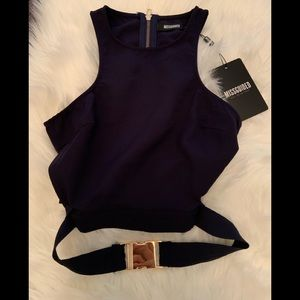Missguided buckle crop top NWT